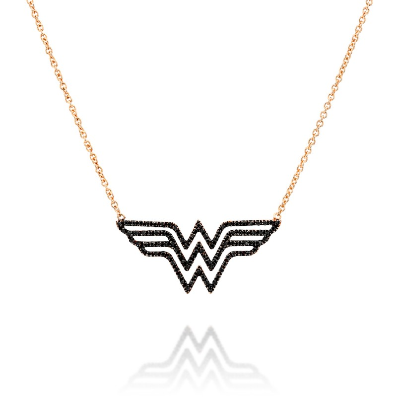Wonderwoman Red Gold Necklace
