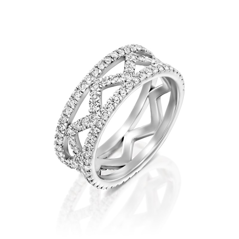Liat white gold ring