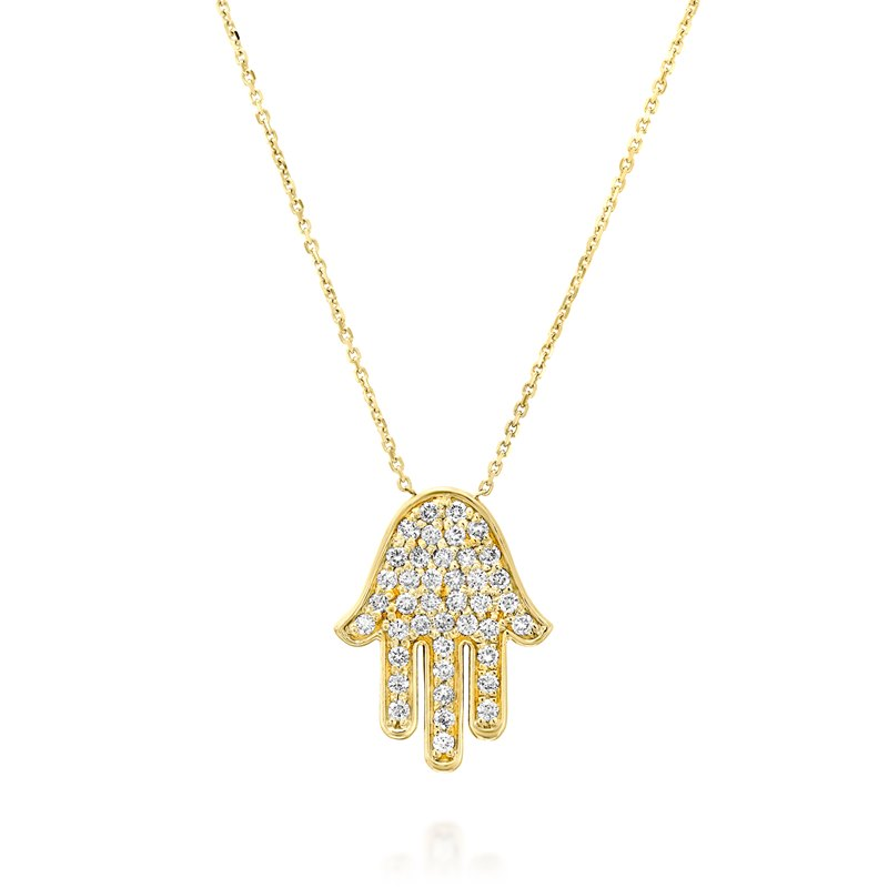 Hamsa Yellow gold Necklace