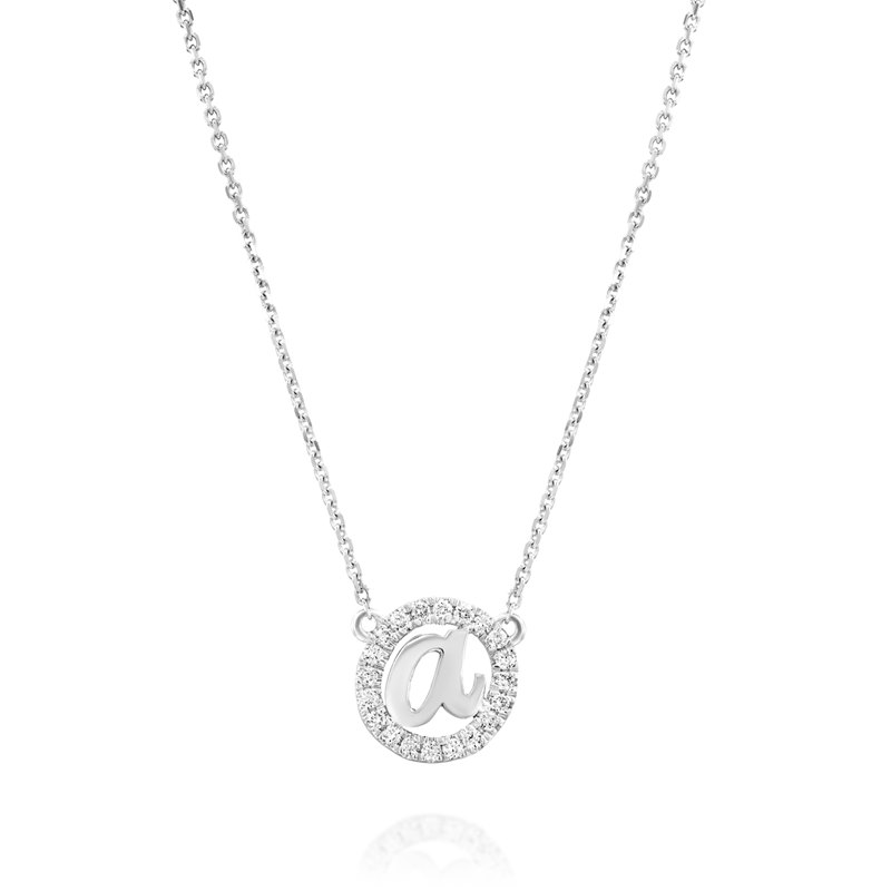 Initial White gold Necklace