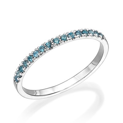 Mika Blue Gem Ring