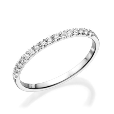 Half Eternity White gold Ring