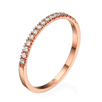 Half Eternity Rose gold Ring