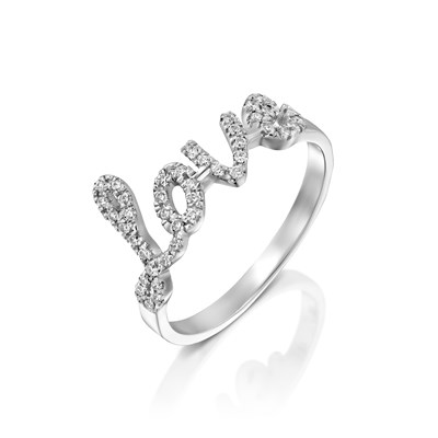 Love White gold Ring