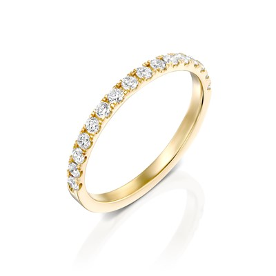 Half Eternity Yellow gold Ring