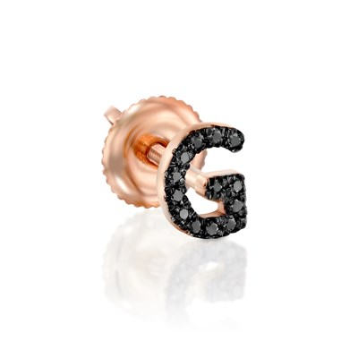 Black Diamond Rose gold earring