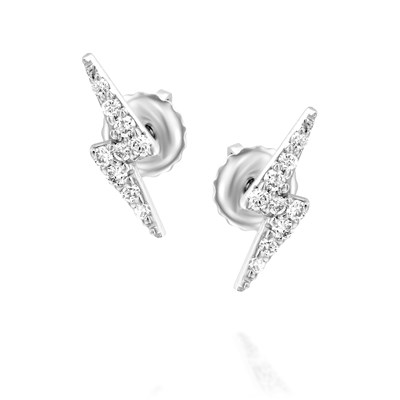 Sparkle White gold Earrings