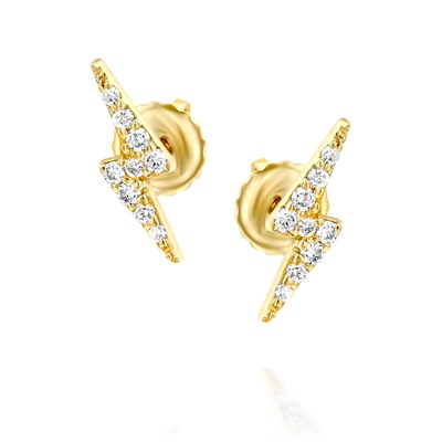 Sparkle Yellow gold Earrings