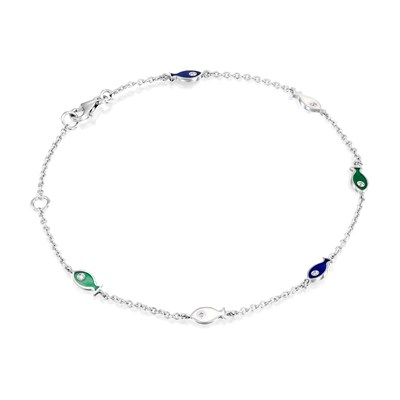 White Gold Ankle Bracelet