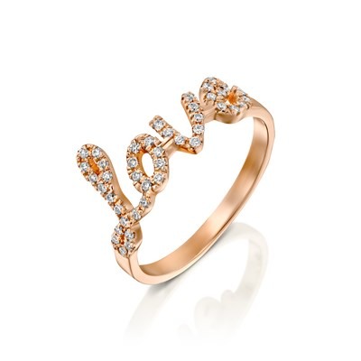 Love Rose gold Ring